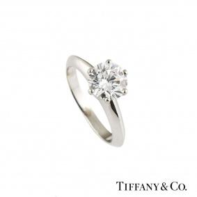 Tiffany & Co. Platinum Setting Band Ring 1.05ct G/VVS1
